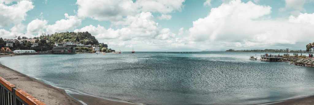 Where to stay in Puerto Varas famous church chile lake volcano