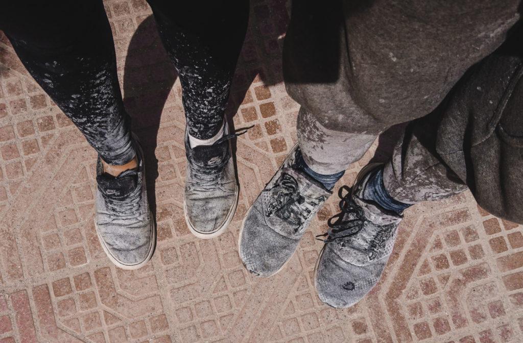 uyuni salt flats bolivia salar de dirty shoes