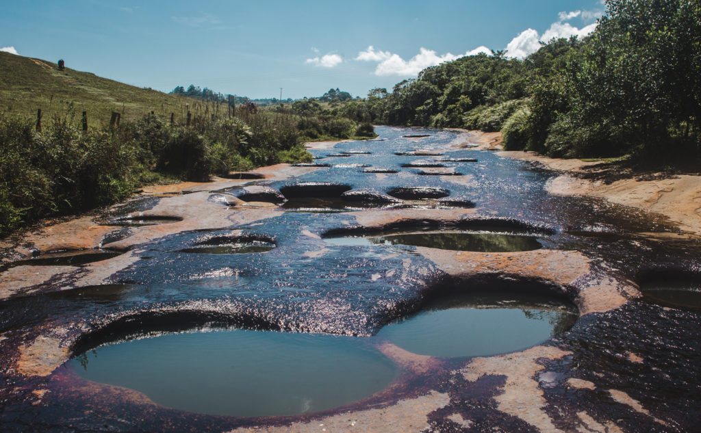 Las Gachas Guadalupe, Santander, Colombia natural plunge pools | Algae coloured holes in river - natural jacuzzi pools | Travel guide to Guadalupe, Colombia | South America trip by Cuppa to Copa Travels