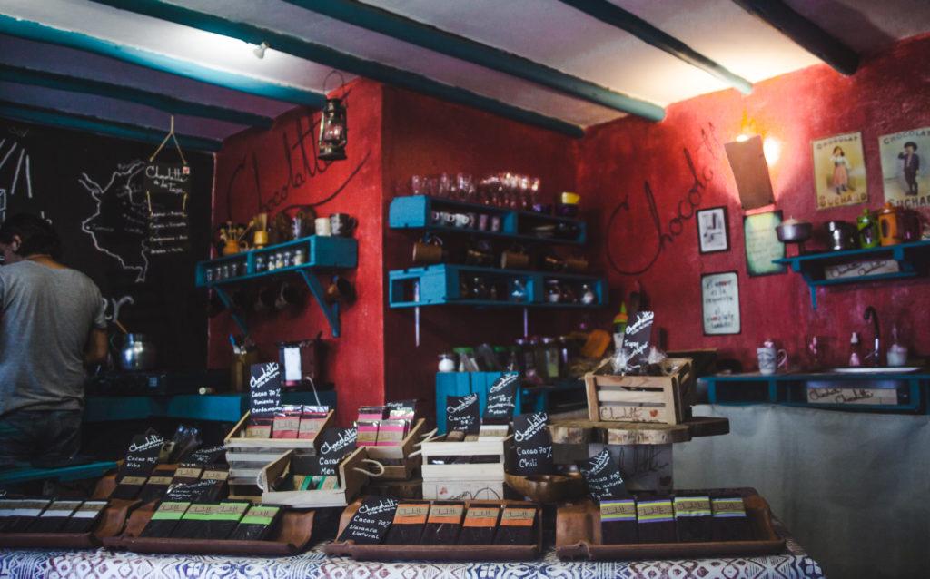 Chocolatt hot chocolate shop Villa de Leyva, Colombia | Bogotá breaks | traditional Colombian town pueblo | Travel guides by Cuppa to Copa Travels