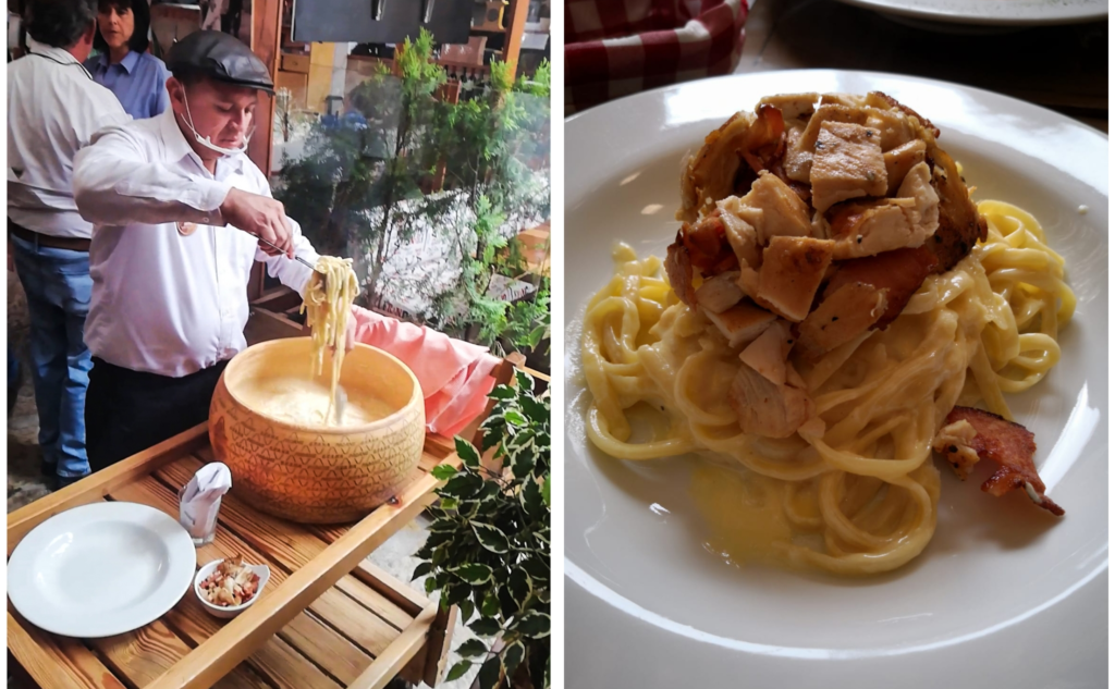 Casa San Pedro cheese-infused pasta | Where to eat Villa de Leyva Colombia | South America travel guides by Cuppa to Copa Travels