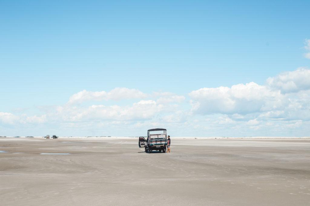 4x4 jeep tour in Lencois Maranhenses Maranhao Brazil beach sand dunes