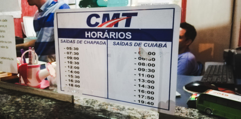 how to get to bus times Where to eat chapada dos guimaraes to cuiaba Mato Grosso Brazil