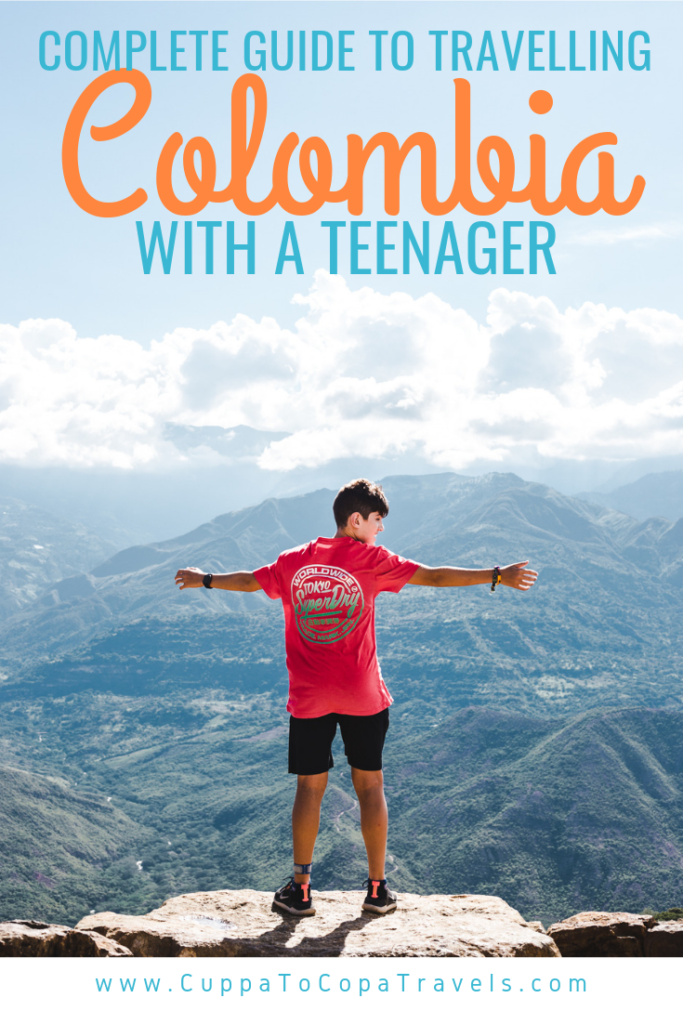 Travelling in Colombia with a teenager / child kids South America family travel safety best things to do with a teenager in colombia