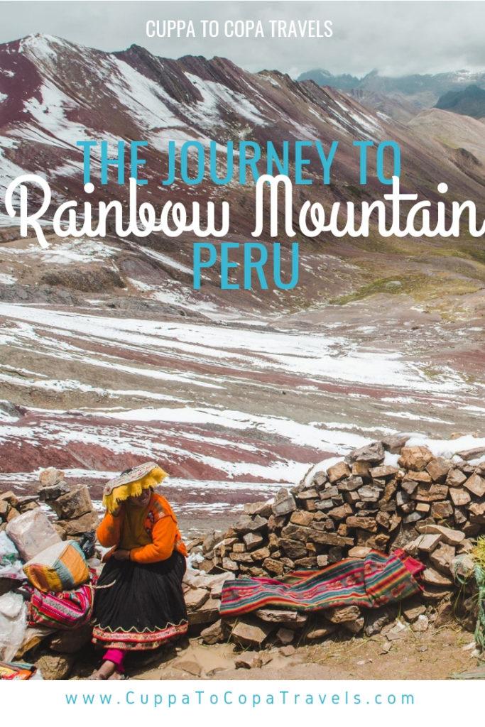Hiking Rainbow Mountain Cusco Peru tour