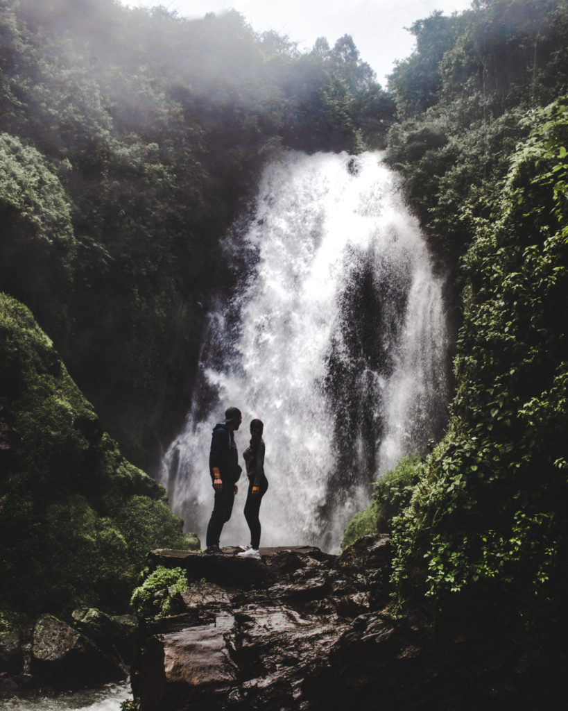 Quito day trips Hike to El Peguche waterfall Otavalo Ecuador - small town 2 hours travel from Quito