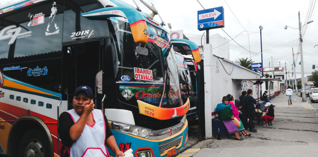How to get to Otavalo from Quito day trip by bus terminal los lagos