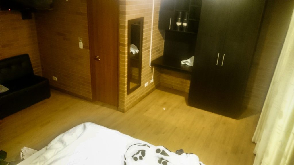 accommodation cost of living Colombia Bogota studio apartment